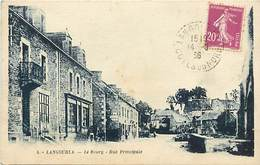 Côtes D Armor -ref-D140- Langourla - La Rue Principale - Magasin - Magasins- Carte Bon Etat - - Frankreich