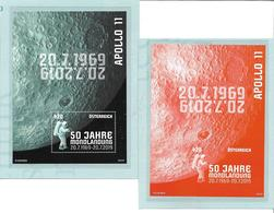 1542g: Austria 1919, First Man On The Moon, ** Issue & Special Print Limited Edition Orange, RR - Europe
