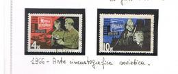 URSS - SG 3262.3263 - 1966  SOVIET CINEMA ART  (COMPLET SET OF 2)   -  USED°  - RIF. CP - 1923-1991 USSR