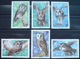 1992Bulgaria4032-4037Owls5,00 € - Eulenvögel