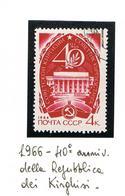 URSS - SG 3274 - 1966  40^ ANNIVERSARY OF  KIRGIZIA    -  USED°  - RIF. CP - 1923-1991 USSR