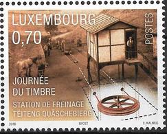 """2018 Luxemburg Mi. 2176 **MNH   Tag Der Briefmarke :  Bremsberg """"Téiten Quäschebierg"""", Antriebsrad - Ungebraucht"""