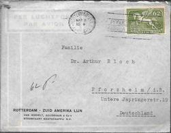 ROTTERDAM - ZUID AMERIKA LIJN VAN NIEVELT, GOUDRIAAN & Co's MONTEVIDEO 1936 A PFORZHEIM DEUTSCHLAND PEGASO PEGASUS - Uruguay