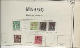 MAROC - BUREAU FRANCAIS - N° 1 NEUF X + 2 A + 3 +3 A + 5 + 6 OBLITERES - 1891-1900- COTE :123 € - Oblitérés