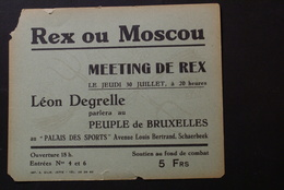 Schaerbeek - Palais Des Sports / Meeting De REX  1 Mai 1943(Degrelle) - Schaerbeek - Schaarbeek
