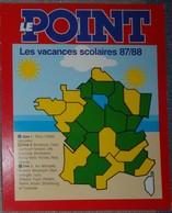 Petit Calendrier Poche 1987 88  Le Point Hebdomadaire D'information - Kalenders