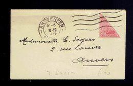 COB 138 ( 1/2 Timbre ) Antwerpen 8-12-1918 => La Ville Tarif Exact Carte De Visite En Enveloppe Ouverte - 1915-1920 Albert I