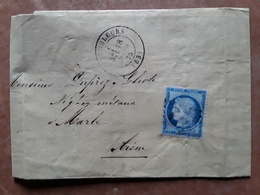 Lettre De VAUCOULEURS, Meuse Forges Fonderie Du TUSEY ,GC 4114 / CERES No 60,18 Mars 1875 > Marle Aisne - 1849-1876: Periodo Classico