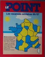 Petit Calendrier Poche 1986 87  Le Point Hebdomadaire D'information - Kalenders