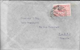 RICARDO M. DRUILLET MONTEVIDEO URUGUAY SOBRE CIRCULADO A LEON ROSSIGNOL A PARIS 1939 CORREO AEREO - Uruguay