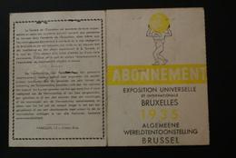 Abonnement EXPO 1935 - Expositions Universelles