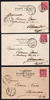 SRI LANKA (ex. Ceylan) Magnifique Lot De 3 Cartes Obl. En 1901, Différents Cachets Maritimes De Colombo Pour............ - Sri Lanka (Ceylan) (1948-...)