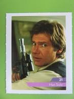 Carte - Autocollant - Sticker Star Wars - Leclerc 2019 - N° 21 - Han Solo (Harrison Ford) - Star Wars