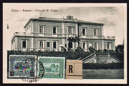 ASMARA (Erythrée) Occupation Italienne. Timbres N° 37 + N°46 Obl Asmara Raccomandata En1922............... - Erythrée