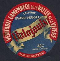 """Et. Véritable Camembert De La Vallée De La Vézère """"VALOJOULX"""" Laiterie Evard - Dordogne - Cheese"""