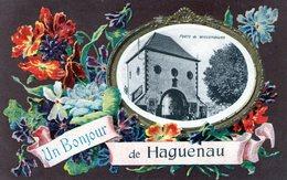 (130)  CPA  Haguenau  Un Bonjour  (Bon Etat) - Haguenau