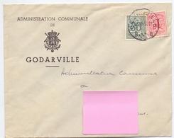 Omslag Enveloppe - Administration Communale De Godarville - Stempel Cachet 1958 - Ganzsachen