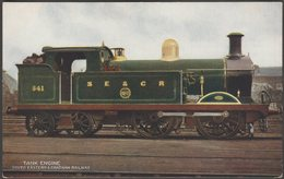 South Eastern & Chatham Railway Tank Engine No 541, C.1905-10 - McCorquodale Postcard - Trains