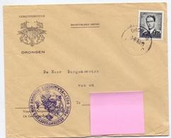 Omslag Enveloppe - Gemeentebestuur Drongen - Stempel Cachet 1960 - Ganzsachen