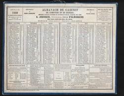 Almanach De Cabinet  JOURDAIN PARIS  1880   TTTB état - Kalender
