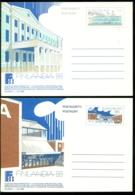 Suomi Finland Postkaarten (2) Met M 1,70 En 1,80 Ongebruikt Postfris Finlandia 88 - Postwaardestukken