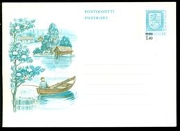 Suomi Finland Postkaart Met M 1,40 (overdruk Op M 0,80) Ongebruikt Postfris - Postwaardestukken