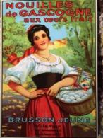 CPM PUB PUBLICITE ANCIENNES NOUILLES GASCOGNE BRUSSEN JEUNE VILLEMUR FEMMECOLLEC AUTHENTIQUES IMAGINAIRES 2007 - Pubblicitari