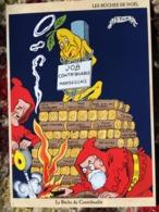 CPM PUB PUBLICITE ANCIENNES BUCHES DE NOEL MARSEILLE CONTRIBUABLE FEU TICK COLLEC AUTHENTIQUES IMAGINAIRES - Publicidad