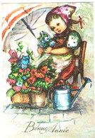 Fillette Et Fleurs -girl Flowers - Meisje Met Bloemenkraam- Mädchen - Kinderen