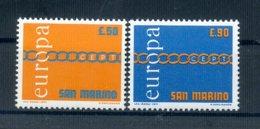 A25614)San Marino 975 - 976**, Cept - San Marino