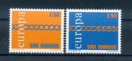 A25615)San Marino 975 - 976**, Cept - San Marino