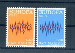 A25616)San Marino 997 - 998**, Cept - San Marino