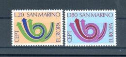 A25620)San Marino 1029 - 1030**, Cept - San Marino