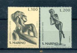 A25622)San Marino 1067 - 1068**, Cept - San Marino