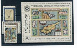 A25894)Zypern 412 - 414** + Bl 9** - Ungebraucht