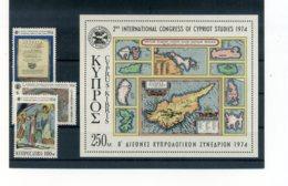 A25896)Zypern 412 - 414** + Bl 9** - Ungebraucht