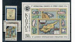 A25897)Zypern 412 - 414** + Bl 9** - Ungebraucht
