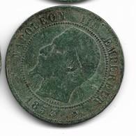 10 Centimes Napoléon III 1853 D - Francia