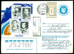 Oekraine 1994 Envelop Met Kosmonauten Aangetekend - Ukraine