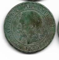 10 Centimes Napoléon III 1855 D - France