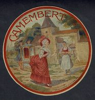 Et. Passe Partout CAMEMBERT - Marquise Avec Chaise à Porteur D'adressant à Une Fermière Avec Son Fromage - Cheese