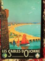 CPM PUB PUBLICITE ANCIENNES PLAGE SABLES D'OLONNE CHEMIN DE FER  COLLEC AUTHENTIQUES IMAGINAIRES 2005 - Advertising