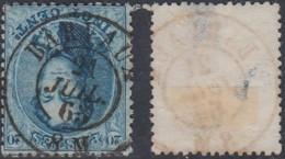 """BELGIQUE COB 15 OBL CENTRALE DOUBE CERCLE """"BARVAUX 21/JUIL/63"""" (DD) DC-5035 - 1863-1864 Medaglioni (13/16)"""