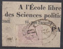 """BELGIQUE COB 29 SUR FRAG DE JOURNAL OBL """" PD MIDI 1 1878"""" RARE (DD) DC-5040 - 1869-1883 Leopold II"""