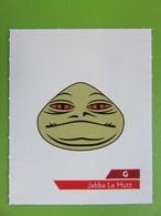 Carte - Autocollant - Sticker Star Wars - Leclerc 2019 - G - Jabba Le Hutt - Star Wars