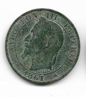 5 Centimes Napoléon III 1861 A - C. 5 Centimes