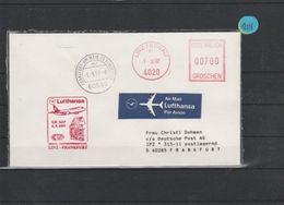 Luftpost   Echt Gelaufen    Lufthansa     Linz - Frankfurt   1997 - [7] République Fédérale