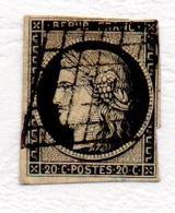 YT N°4 Oblitéré Grille - 1849-1850 Cérès