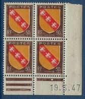 """FR Coins Datés YT 757 """" Armoiries Lorraine """" Neuf** Du 19.3.47 - 1940-1949"""