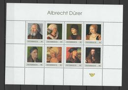Austria 2019 Paintings Albrecht Dürer - Durer  Sheetlet In Folder MNH - Sonstige